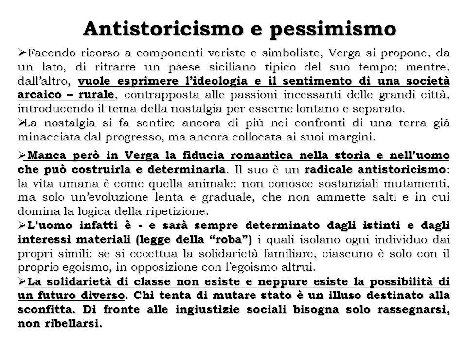 Antistoricismo e pessimismo