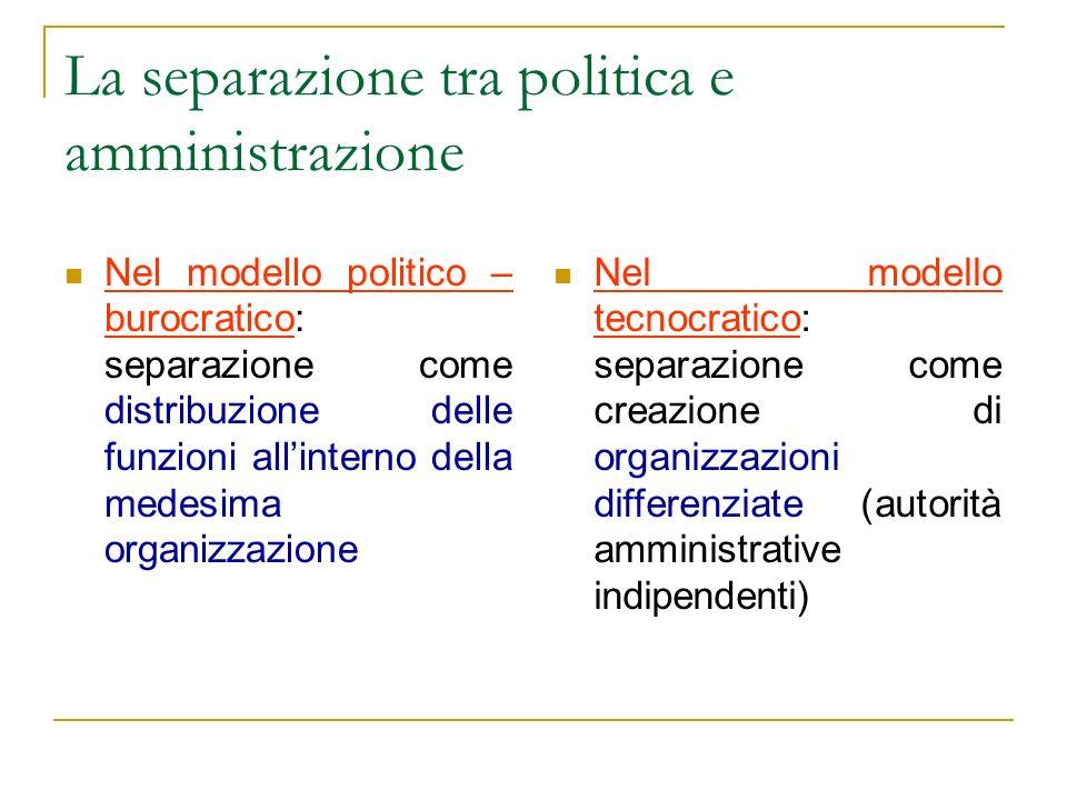 La separazione tra politica e amministrazione