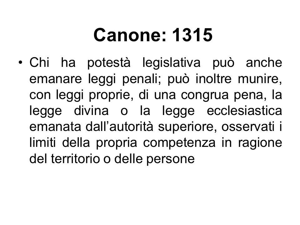 Canone: 1315