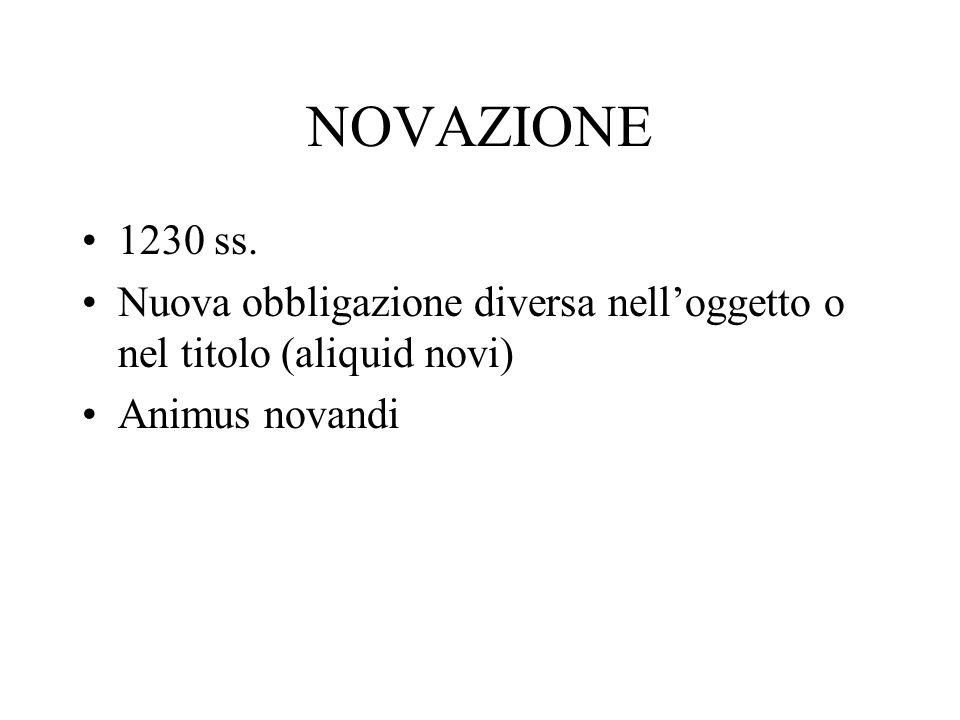 NOVAZIONE 1230 ss.