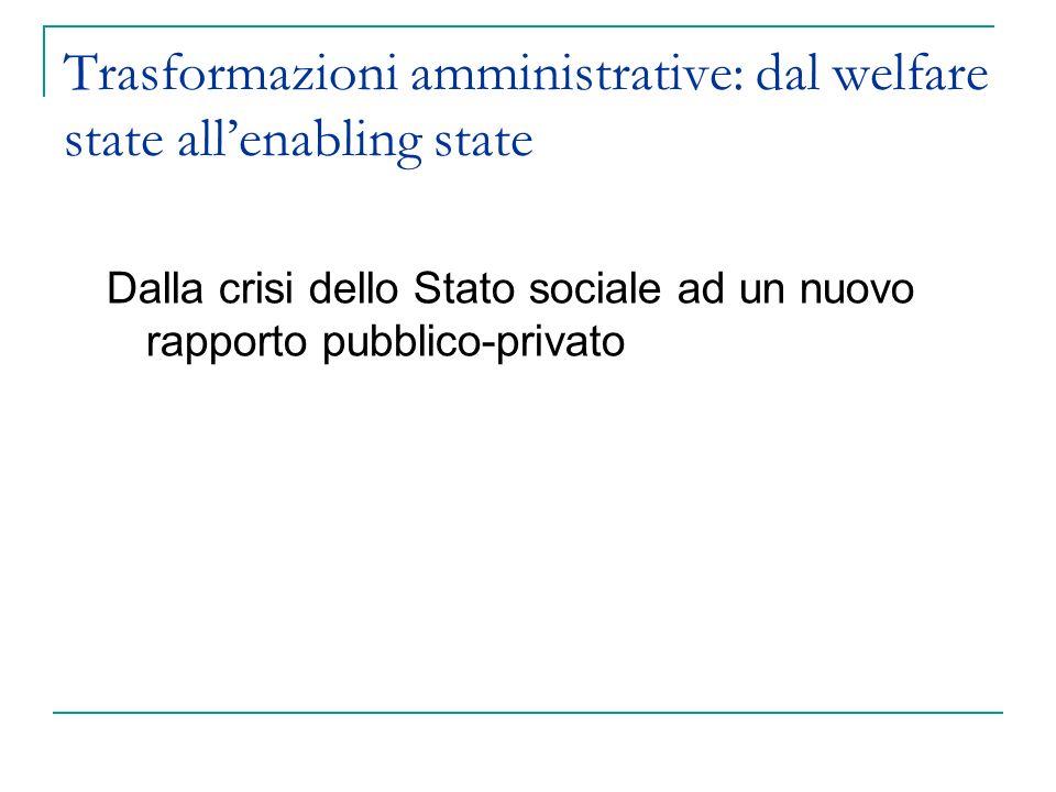 Trasformazioni amministrative: dal welfare state all'enabling state