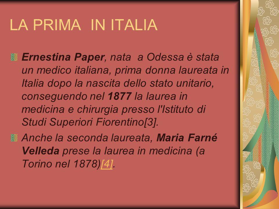 LA PRIMA IN ITALIA