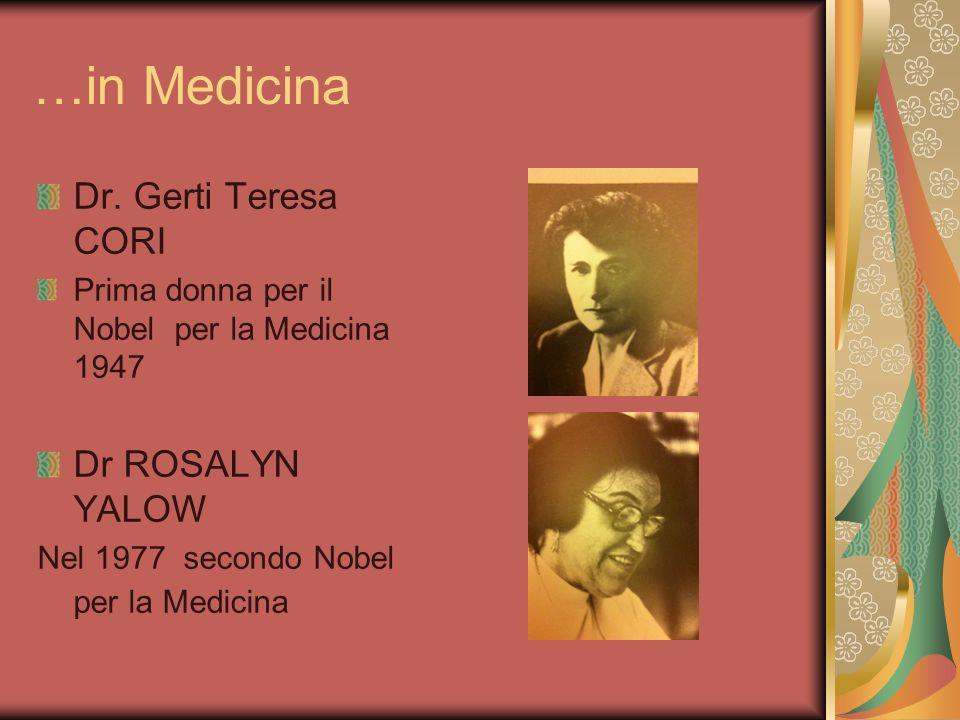 …in Medicina Dr. Gerti Teresa CORI Dr ROSALYN YALOW