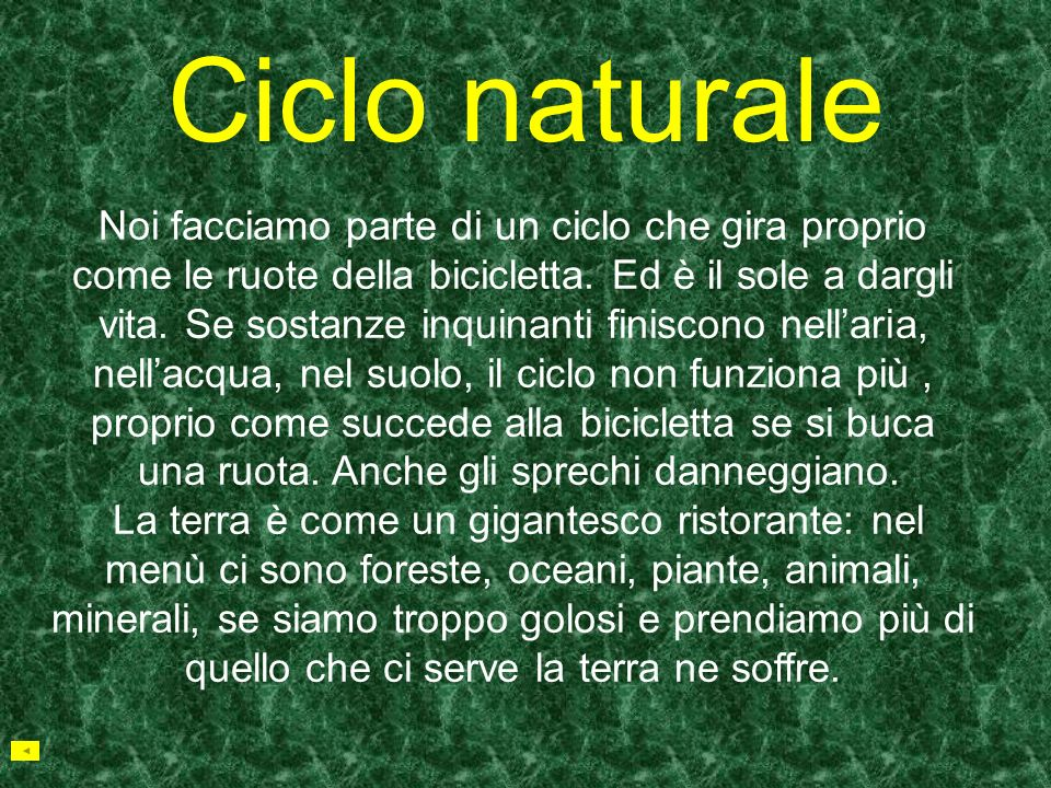 Ciclo naturale