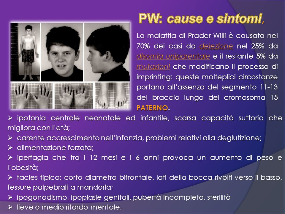 PW: cause e sintomi,