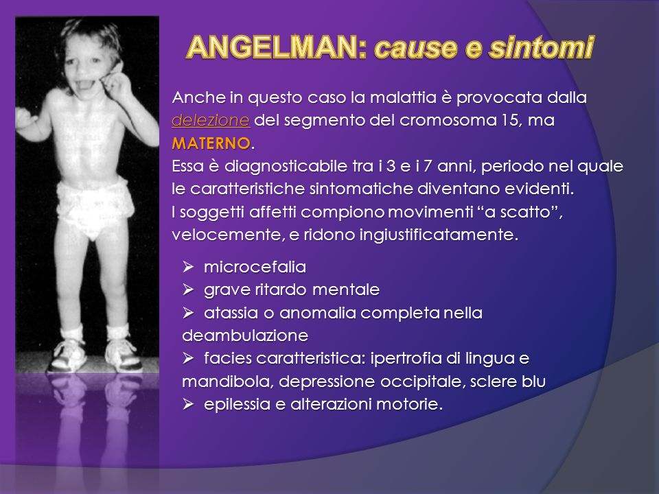 ANGELMAN: cause e sintomi