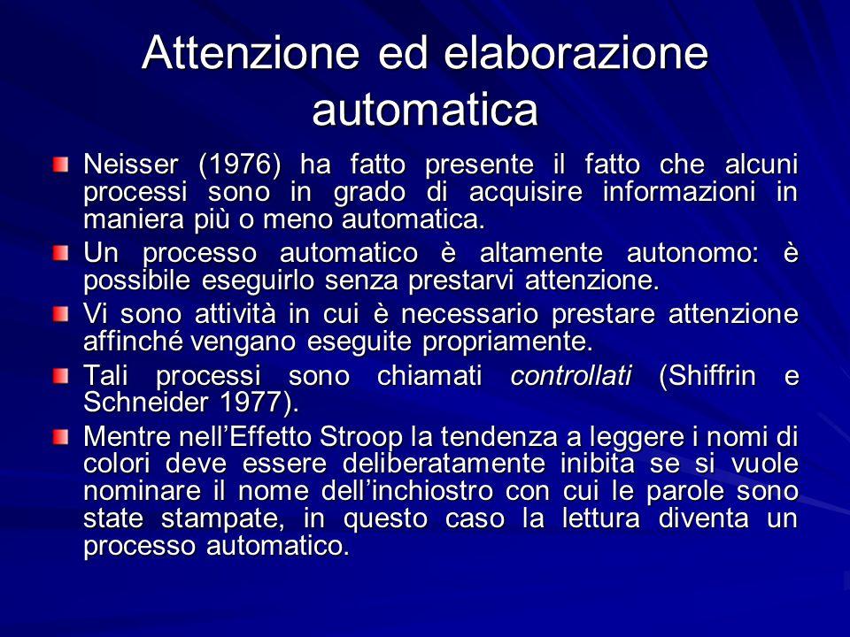 Attenzione ed elaborazione automatica