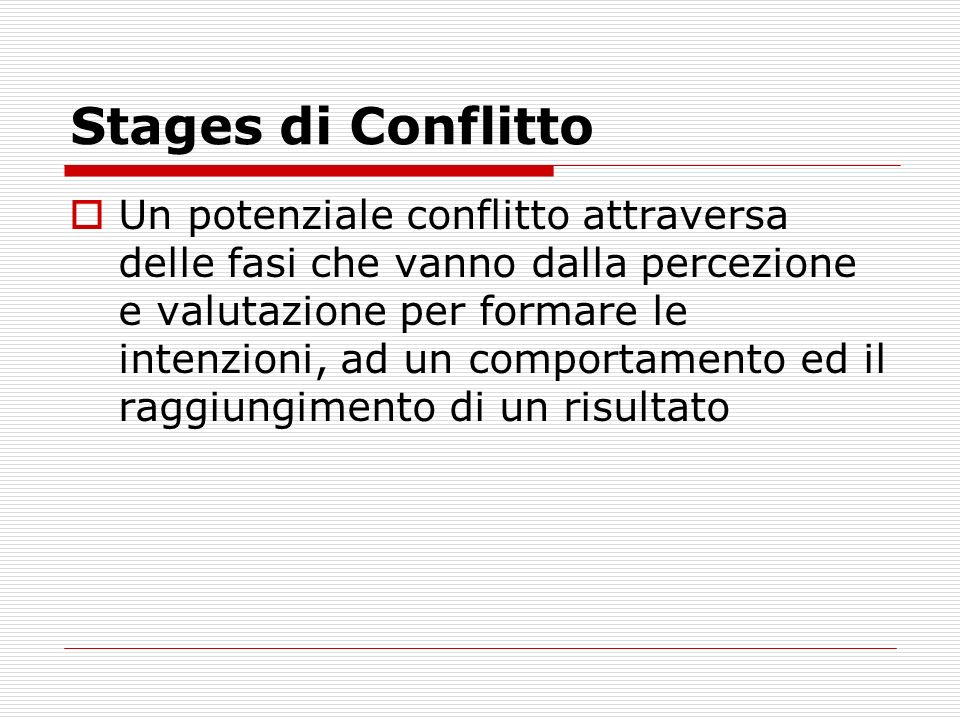 Stages di Conflitto