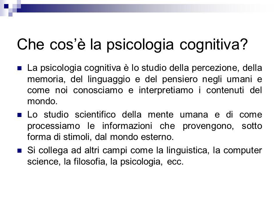 Che cos'è la psicologia cognitiva