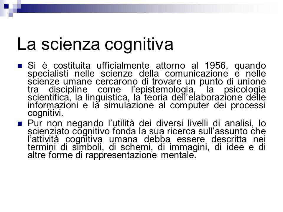 La scienza cognitiva