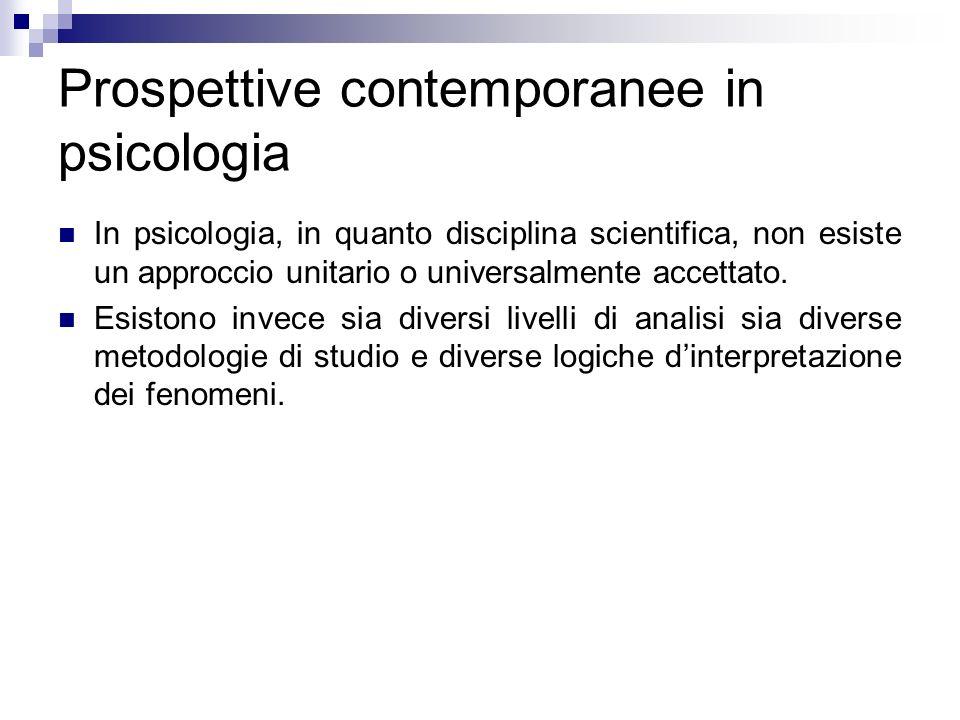 Prospettive contemporanee in psicologia