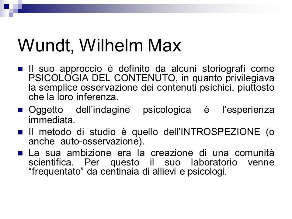 Wundt, Wilhelm Max
