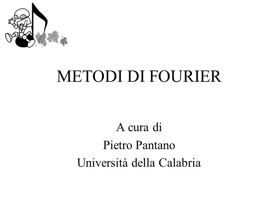 A cura di Pietro Pantano Università della Calabria