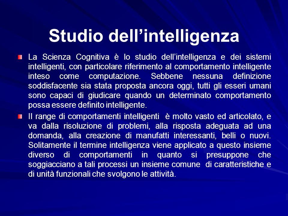 Studio dell'intelligenza