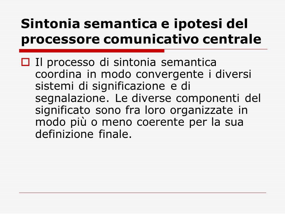 Sintonia semantica e ipotesi del processore comunicativo centrale
