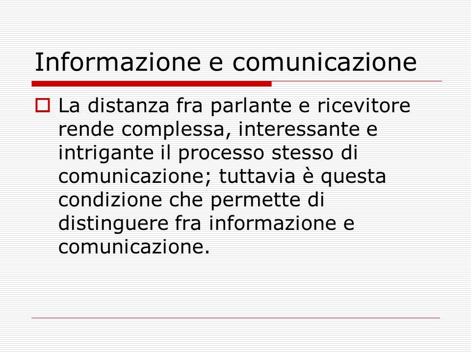 Informazione e comunicazione