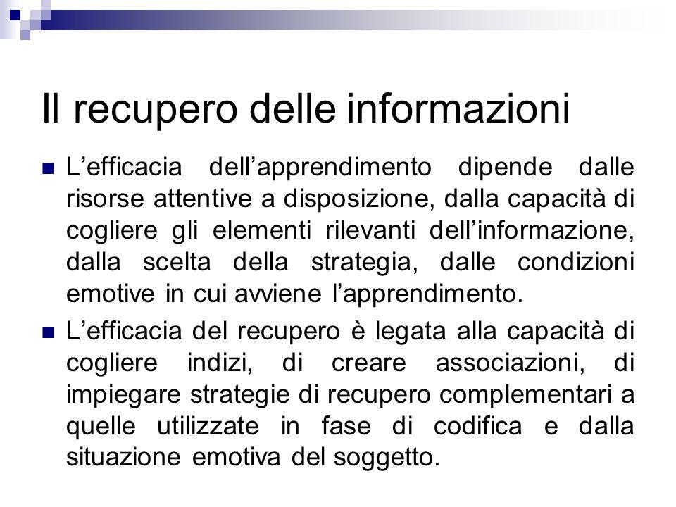 Il recupero delle informazioni