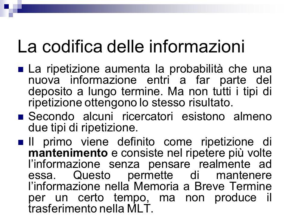 La codifica delle informazioni