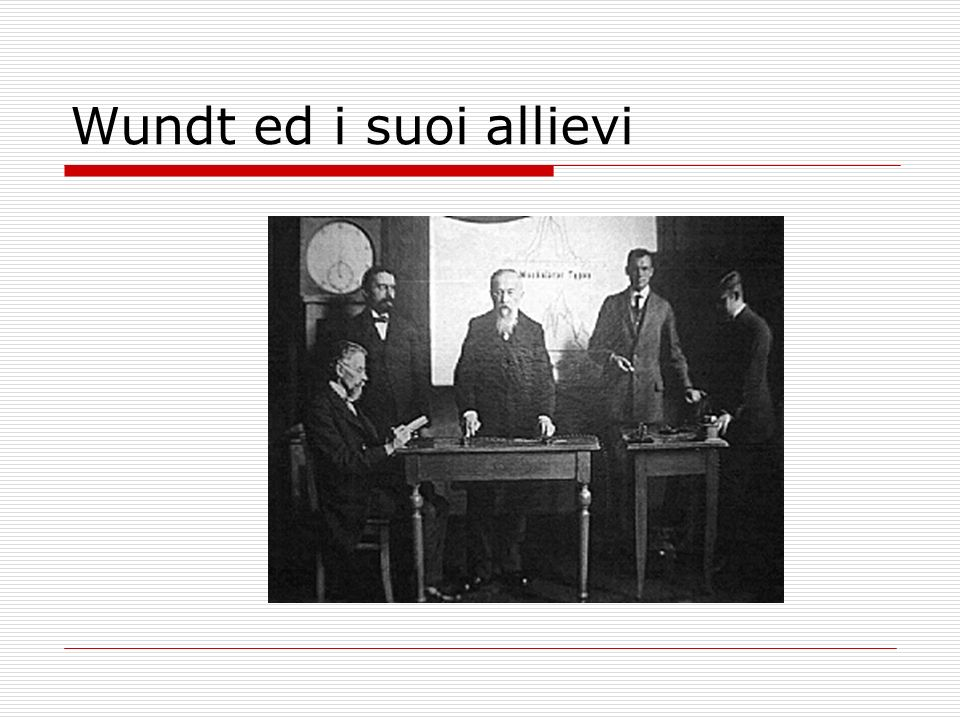 Wundt ed i suoi allievi