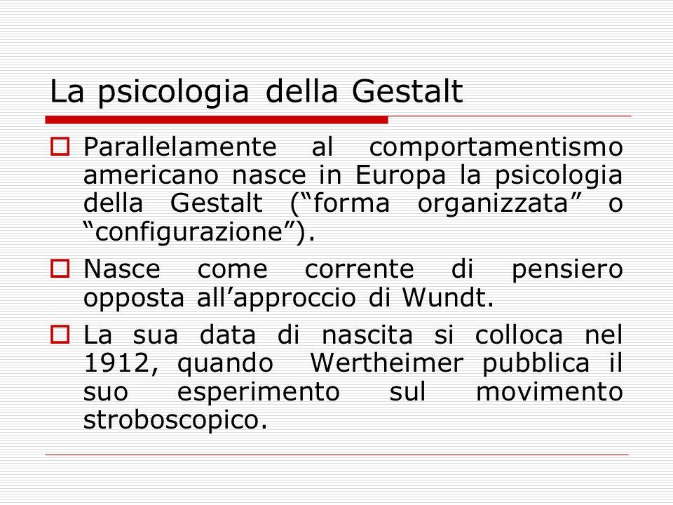 La psicologia della Gestalt