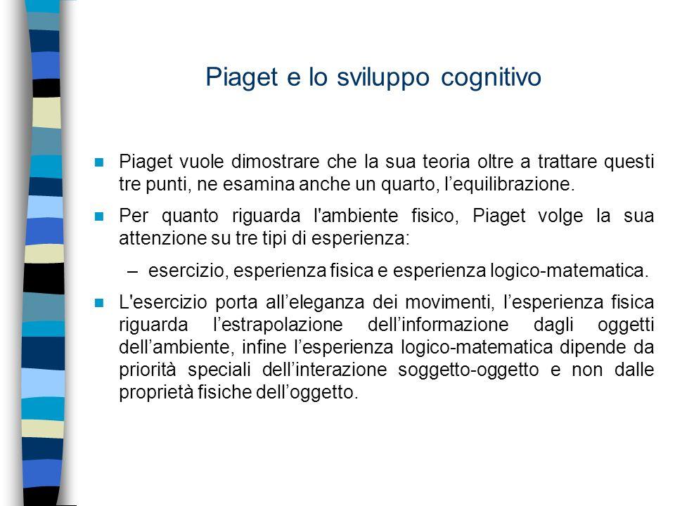 Piaget e lo sviluppo cognitivo