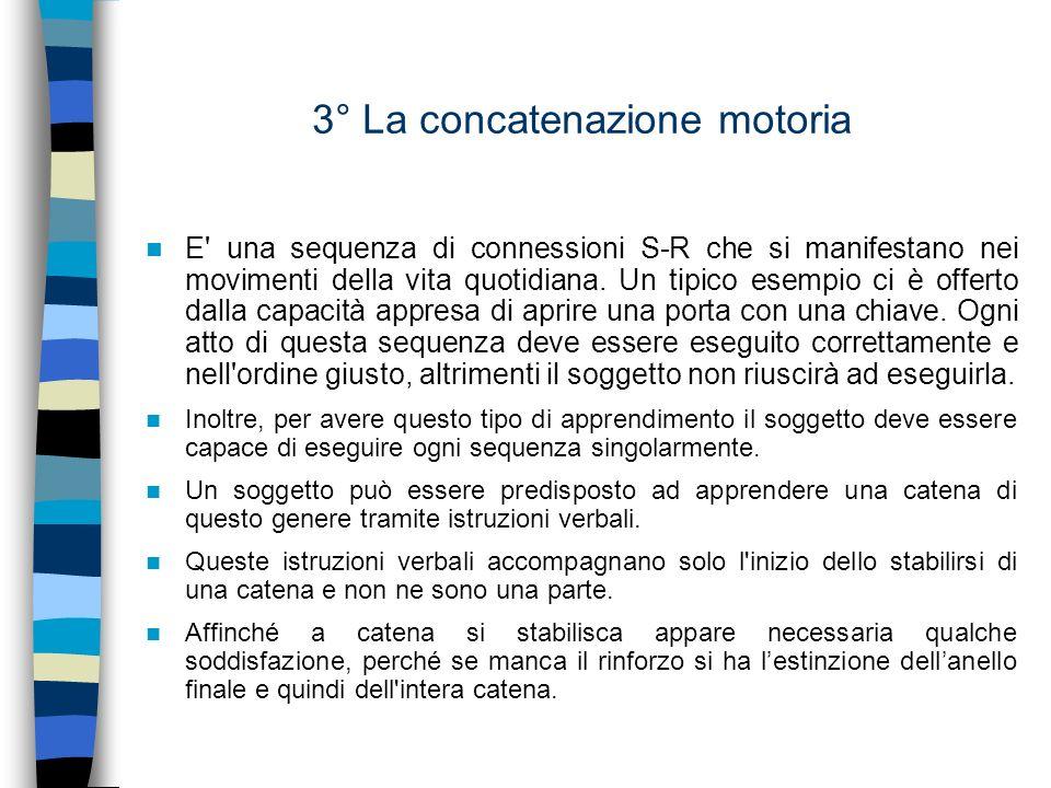3° La concatenazione motoria