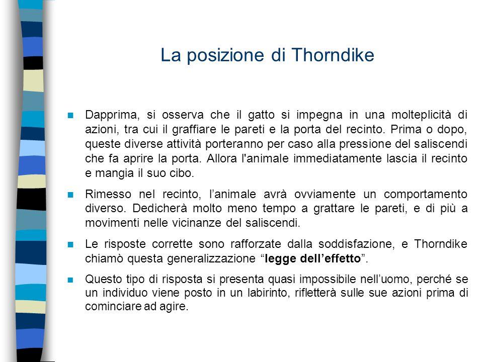 La posizione di Thorndike