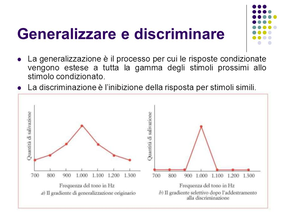 Generalizzare e discriminare