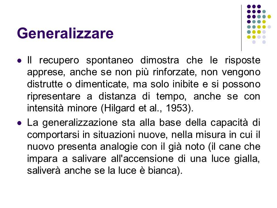 Generalizzare