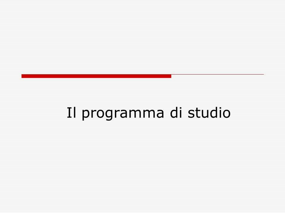 Il programma di studio