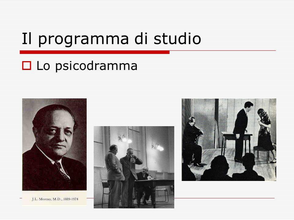 Il programma di studio Lo psicodramma