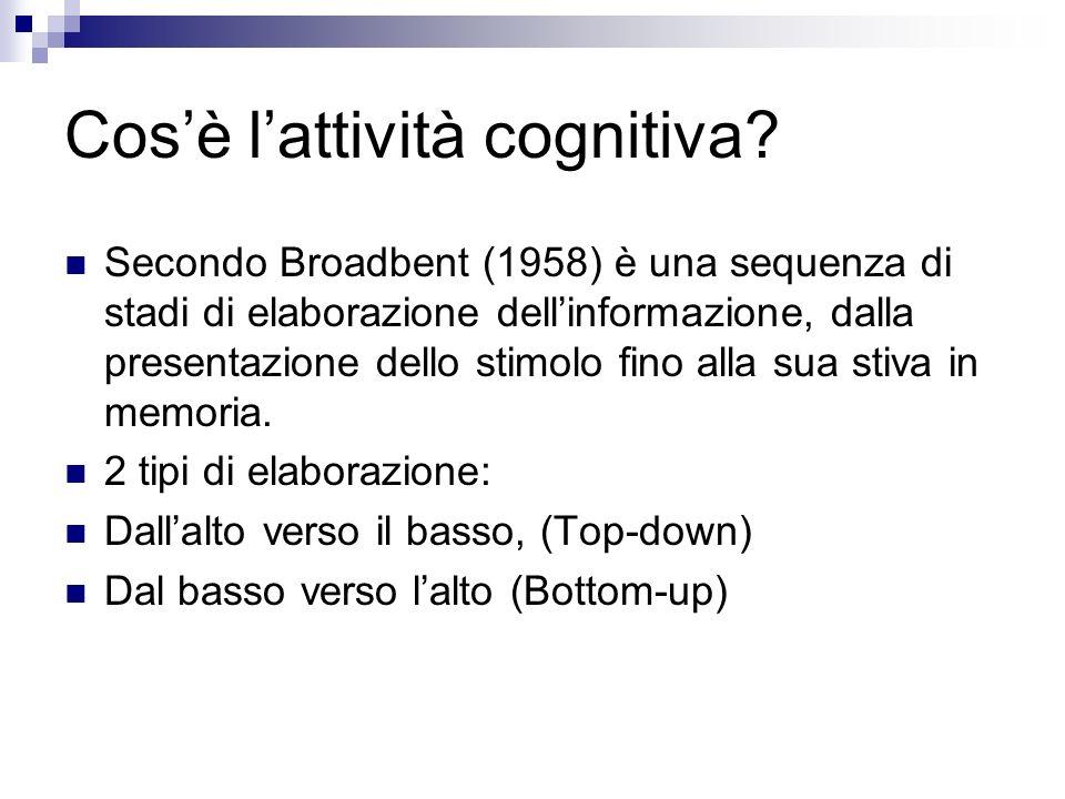 Cos'è l'attività cognitiva