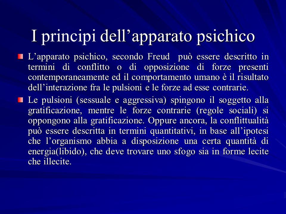 I principi dell'apparato psichico