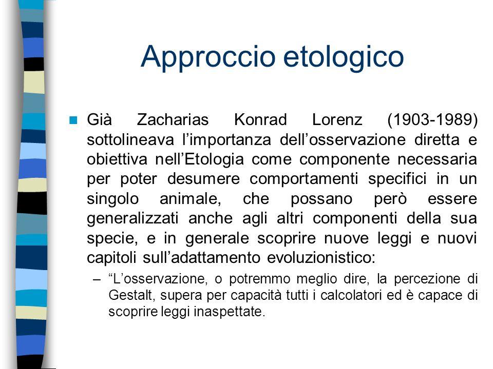 Approccio etologico