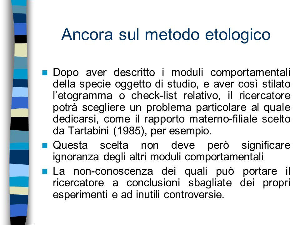 Ancora sul metodo etologico