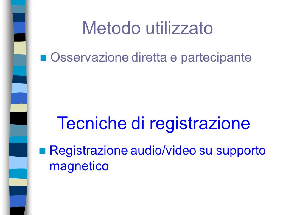 Tecniche di registrazione