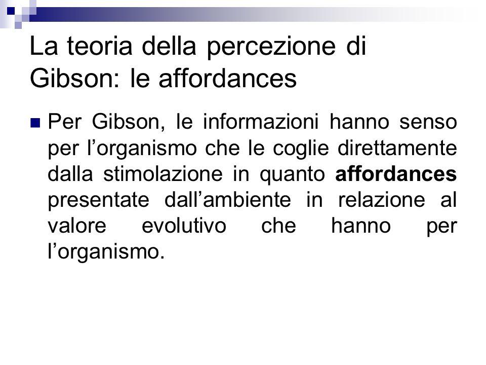 La teoria della percezione di Gibson: le affordances