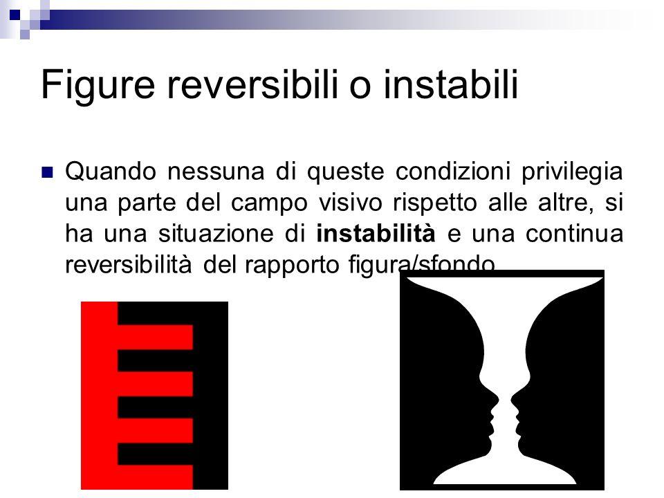 Figure reversibili o instabili