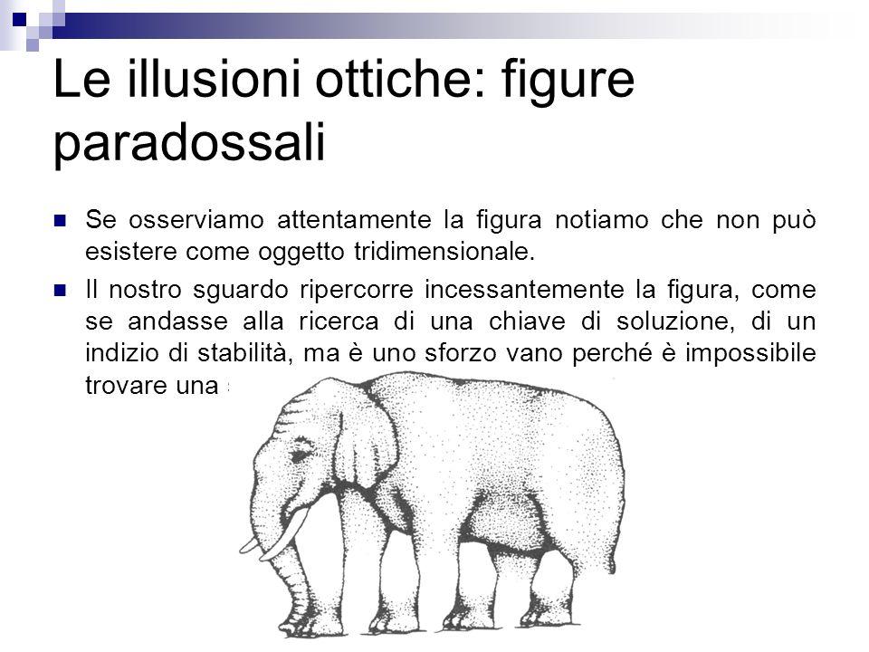 Le illusioni ottiche: figure paradossali