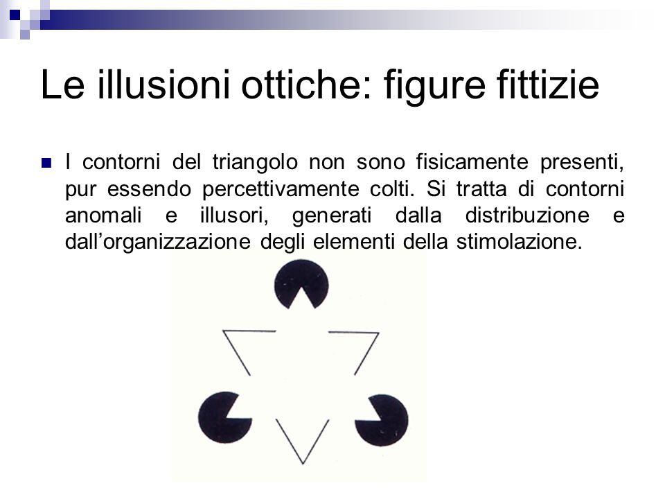 Le illusioni ottiche: figure fittizie