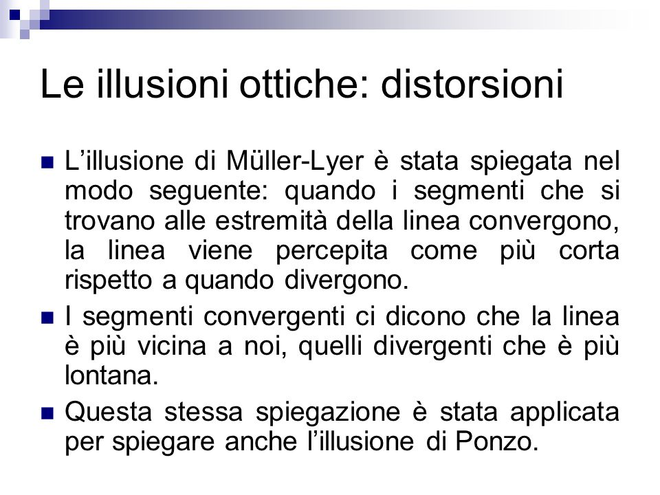 Le illusioni ottiche: distorsioni