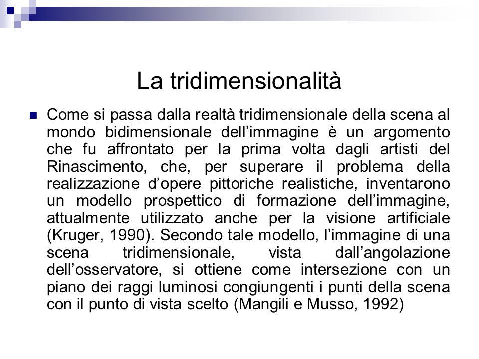 La tridimensionalità