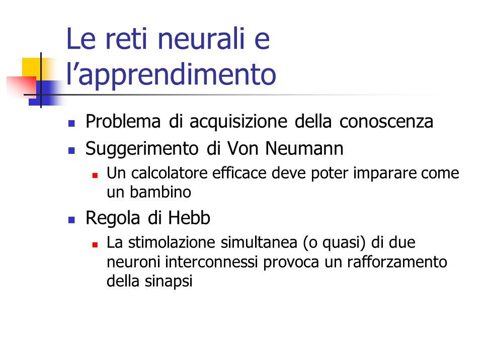 Le reti neurali e l'apprendimento