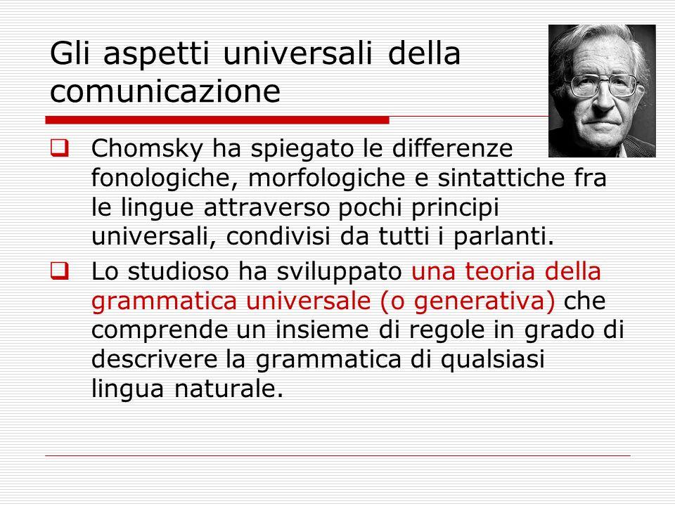 Gli aspetti universali della comunicazione