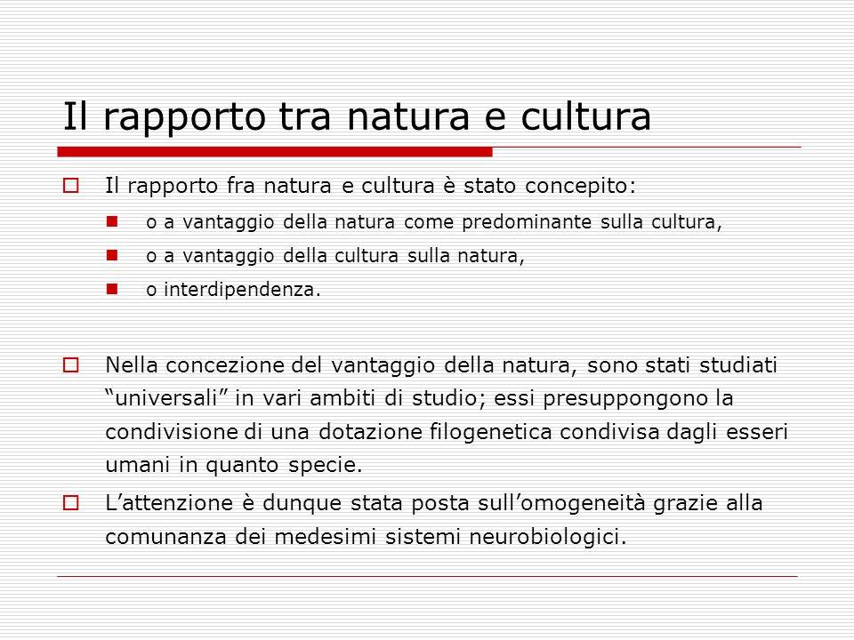 Il rapporto tra natura e cultura