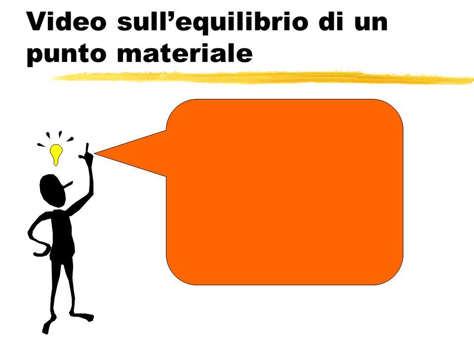 Video sull'equilibrio di un punto materiale