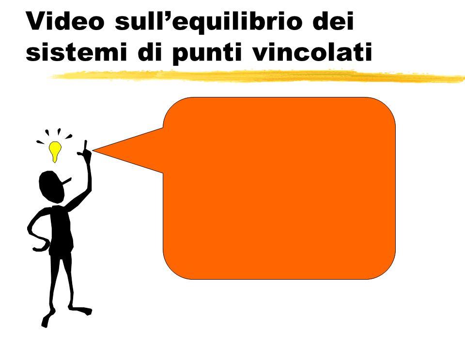 Video sull'equilibrio dei sistemi di punti vincolati