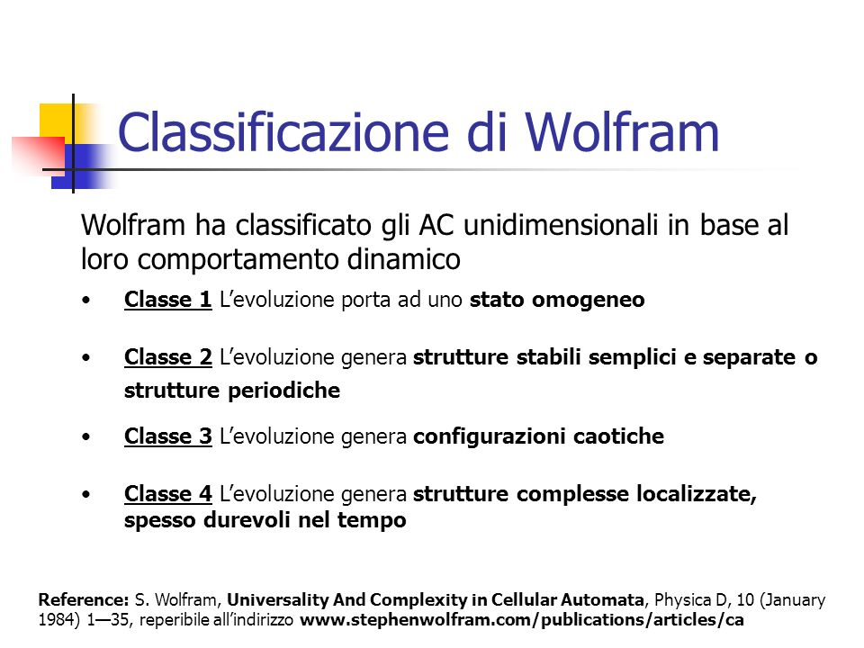 Classificazione di Wolfram