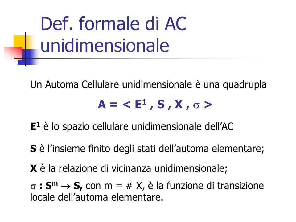 Def. formale di AC unidimensionale