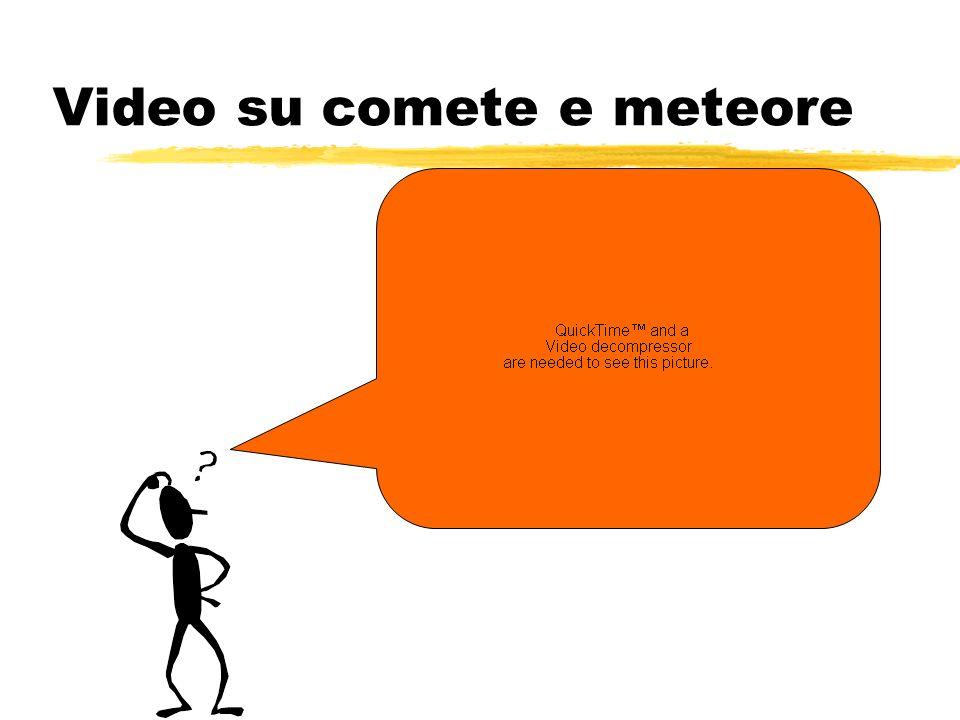 Video su comete e meteore